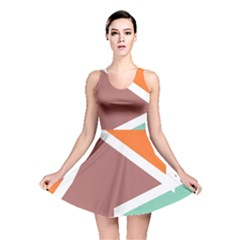 Misc shapes in retro colors Reversible Skater Dress