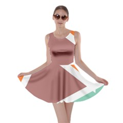 Misc Shapes In Retro Colors Skater Dress