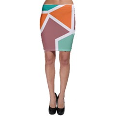 Misc Shapes In Retro Colors Bodycon Skirt