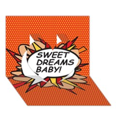 Sweet Dreams Baby!  Heart 3d Greeting Card (7x5)