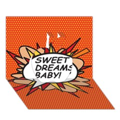 Sweet Dreams Baby!  Apple 3D Greeting Card (7x5)