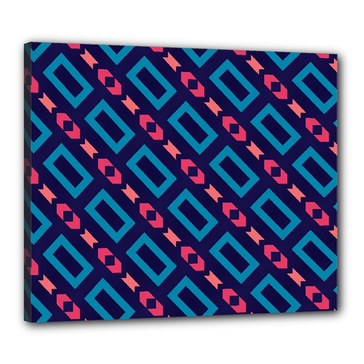 Rectangles and other shapes pattern Canvas 24  x 20  (Stretched)