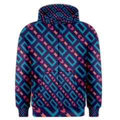 Rectangles and other shapes pattern Men s Zipper Hoodie