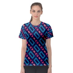 Rectangles And Other Shapes Pattern Women s Sport Mesh Tee