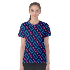 Rectangles And Other Shapes Pattern Women s Cotton Tee