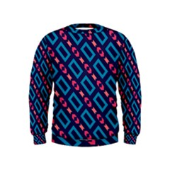 Rectangles and other shapes pattern  Kid s Sweatshirt