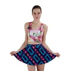 Rectangles and other shapes pattern Mini Skirt