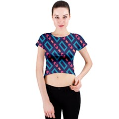 Rectangles and other shapes pattern Crew Neck Crop Top