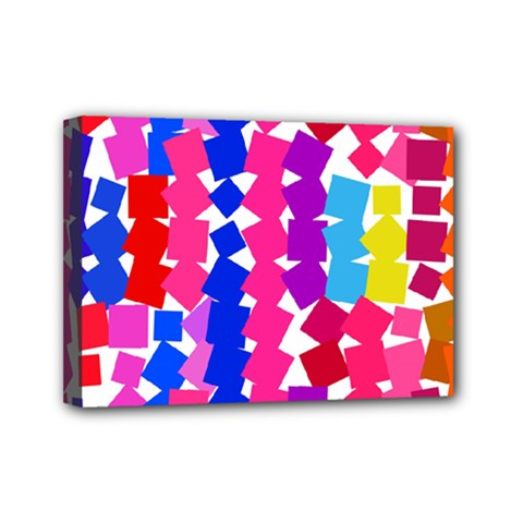 Colorful squares Mini Canvas 7  x 5  (Stretched)