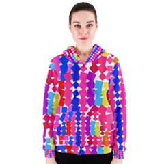 Colorful squares Women s Zipper Hoodie