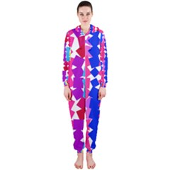 Colorful squares Hooded OnePiece Jumpsuit