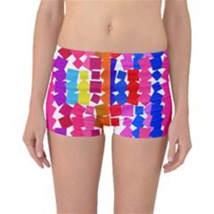 Colorful squares Boyleg Bikini Bottoms