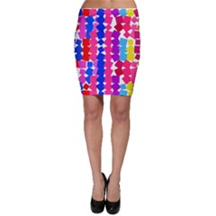 Colorful Squares Bodycon Skirt