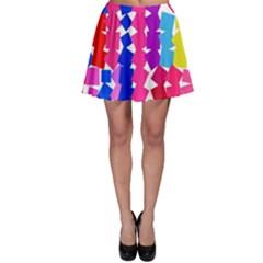 Colorful squares Skater Skirt