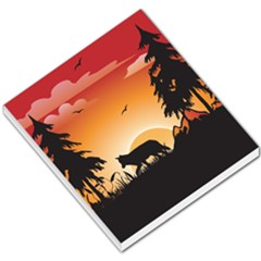 The Lonely Wolf In The Sunset Small Memo Pads
