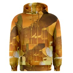 Awesome Sunset Over The Ocean With Ship Men s Pullover Hoodies