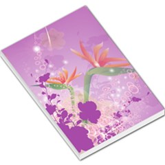 Wonderful Flowers On Soft Purple Background Large Memo Pads