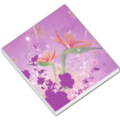 Wonderful Flowers On Soft Purple Background Small Memo Pads