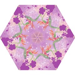 Wonderful Flowers On Soft Purple Background Mini Folding Umbrellas