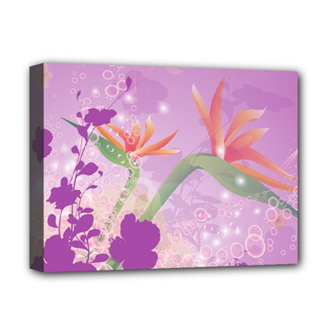 Wonderful Flowers On Soft Purple Background Deluxe Canvas 16  x 12