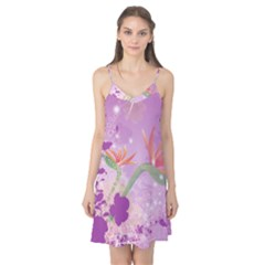 Wonderful Flowers On Soft Purple Background Camis Nightgown