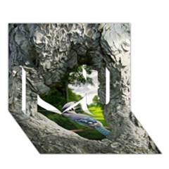 Bird In The Tree 2 I Love You 3d Greeting Card (7x5)