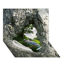 Bird In The Tree 2 Heart Bottom 3D Greeting Card (7x5)