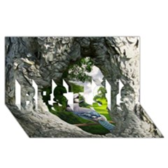 Bird In The Tree 2 BEST SIS 3D Greeting Card (8x4)