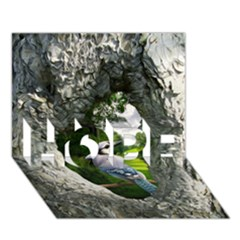 Bird In The Tree 2 Hope 3d Greeting Card (7x5)