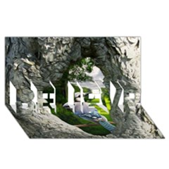 Bird In The Tree 2 BELIEVE 3D Greeting Card (8x4)