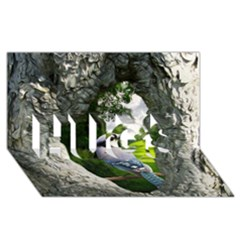 Bird In The Tree 2 HUGS 3D Greeting Card (8x4)