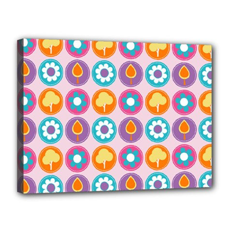 Chic Floral Pattern Canvas 16  x 12