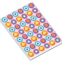 Chic Floral Pattern Large Memo Pads