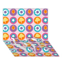Chic Floral Pattern Love Bottom 3d Greeting Card (7x5)