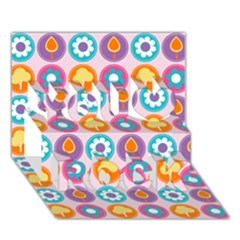 Chic Floral Pattern You Rock 3D Greeting Card (7x5)