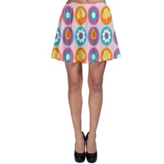 Chic Floral Pattern Skater Skirts