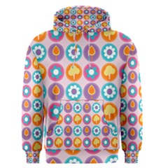 Chic Floral Pattern Men s Pullover Hoodies