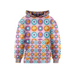 Chic Floral Pattern Kid s Pullover Hoodies