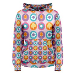 Chic Floral Pattern Women s Pullover Hoodies