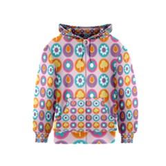 Chic Floral Pattern Kids Zipper Hoodies