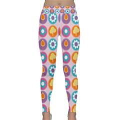 Chic Floral Pattern Yoga Leggings