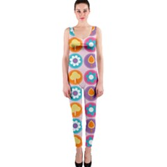 Chic Floral Pattern OnePiece Catsuits