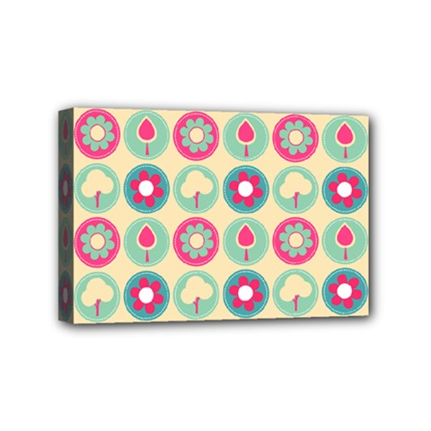 Chic Floral Pattern Mini Canvas 6  x 4