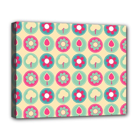 Chic Floral Pattern Deluxe Canvas 20  x 16