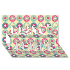 Chic Floral Pattern Best Friends 3D Greeting Card (8x4)