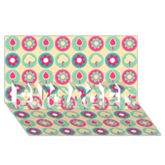 Chic Floral Pattern ENGAGED 3D Greeting Card (8x4)