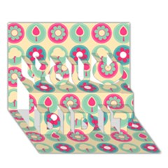 Chic Floral Pattern You Did It 3d Greeting Card (7x5)