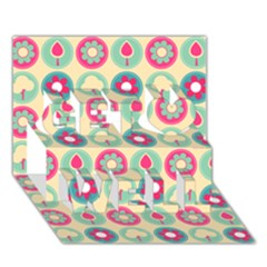 Chic Floral Pattern Get Well 3D Greeting Card (7x5)