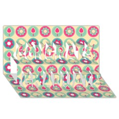 Chic Floral Pattern Congrats Graduate 3D Greeting Card (8x4)