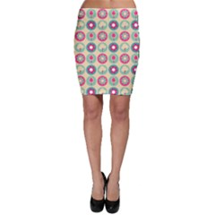 Chic Floral Pattern Bodycon Skirts